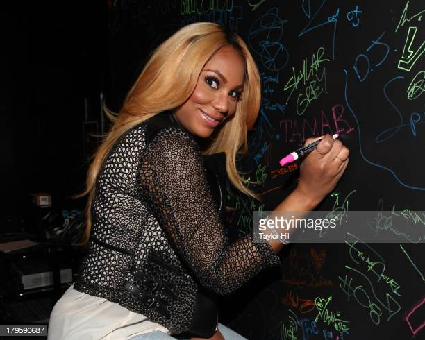 Tamar Braxton visits Music Choice's 'UA' in Midtown West on September 5 2013 in New York United States