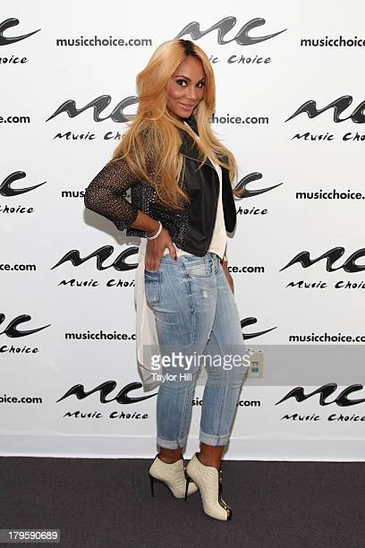 Tamar Braxton visits Music Choice's UA in Midtown West on September 5 2013 in New York United States