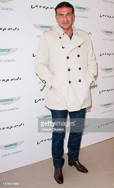 Tamar Hassan attends the launch of Aston Martin Vanquish at the London Film Museum on July 4 2012 in London England