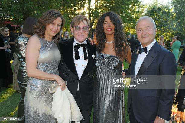 Tamar Manoukian Sir Elton John Afef Jnifen and Bob Manoukian attend the Argento Ball for the Elton John AIDS Foundation in association with BVLGARI...