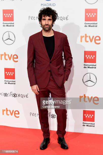 Tamar Novas attends the red carpet during 'Jose Maria Forque Awards' 2020 at Ifema on January 11 2020 in Madrid Spain