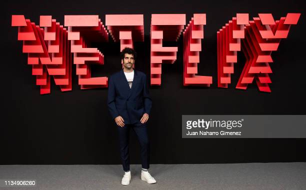 Tamar Novas attends the red carpet during the Netflix presentation party at the Invernadero del Palacio de Cristal de la Arganzuela on April 4 2019...