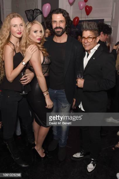 Tamara A Orlova Coralie Jo Christian Vit and Joe Alvarez attend the launch of The Playboy Collection by Coco De Mer at Morton's Club on January 29...
