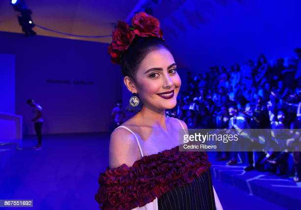 Tamara Al Gabbani attends the Mashael show at Fashion Forward October 2017 held at the Dubai Design District on October 28 2017 in Dubai United Arab...