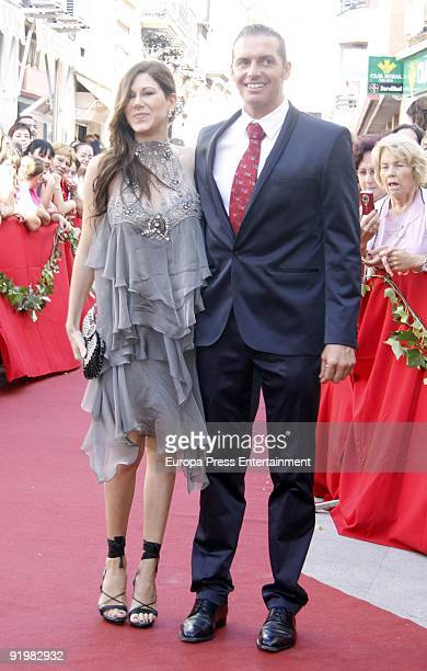 Tamara and Daniel Roque attend the wedding of Pastora Soler and Francis Vinolo on October 17 2009 in Seville Spain
