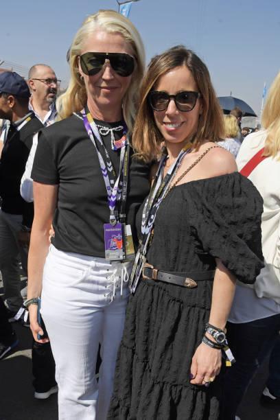 Tamara Beckwith and Ana Aznar Botella attend The ABB FIA Formula E 2020 Marrakesh EPrix on February 29 2020 in Marrakesh Morocco