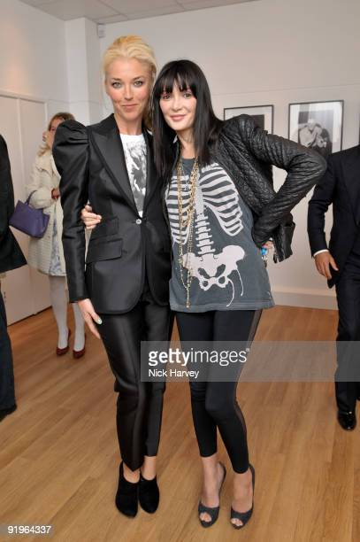 Tamara Beckwith and Annabelle Neilson attend the private view for 'Once Upon A Time' on October 16 2009 in London England