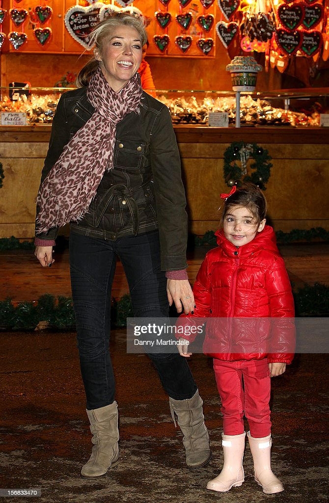 Tamara Beckwith and child attend the Winter Wonderland launch party at Hyde Park on November 22, 2012 in London, England.