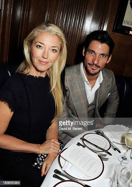 Tamara Beckwith and David Gandy attend the launch of TAG Heuer's new Aquaracer in the presence of long term friend of the brand Bo Derek at Tramp on...