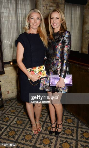Tamara Beckwith and Dee Ocleppo attend a private dinner hosted by Jonathan Newhouse and Tommy Hilfiger to celebrate London Collections Men SS15 at...