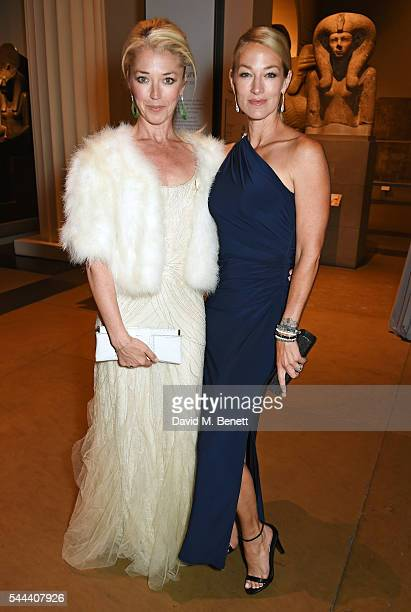 Tamara Beckwith and Elaine Irwin attend the 2016 FIA Formula E Visa London ePrix gala dinner at The British Museum on July 3 2016 in London England