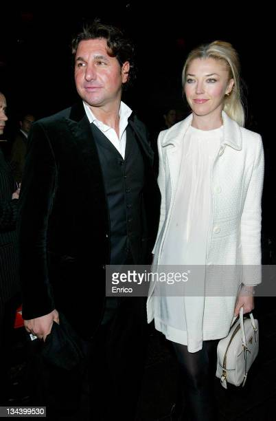 Tamara Beckwith and Giorgio Veroni arrive for the ING Renault F1 Team Wrap Party, at the Mayfair Hotel on November 28, 2007 in London, England.