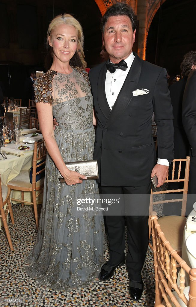 Tamara Beckwith (L) and Giorgio Veroni attend the 2015 FIA Formula E Visa London ePrix Gala Dinner at the Natural History Museum on June 28, 2015 in London, England.