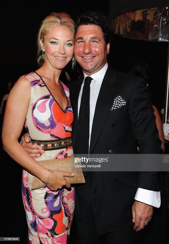 Tamara Beckwith and Giorgio Veroni attends Fashion For Relief Japan Fundraiser during the 64th Annual Cannes Film Festival at Forville Market on May 16, 2011 in Cannes, France.