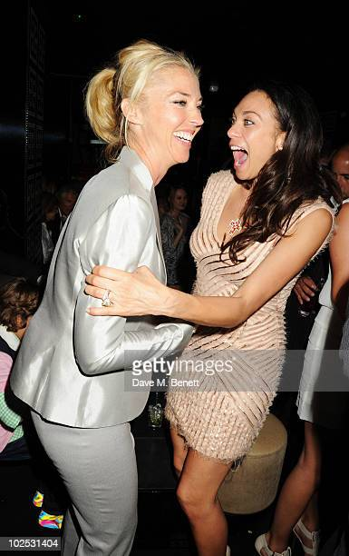 Tamara Beckwith and Sharlely Becker attend Boris Becker's birthday party at Mortons on June 29, 2010 in London, England.