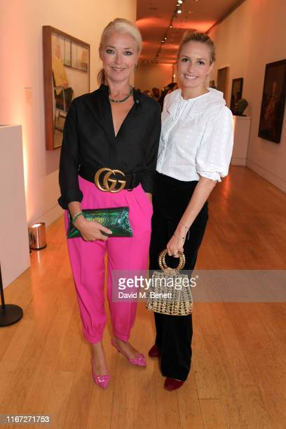 Tamara Beckwith and Sofia Wellesley attend the launch of Champagne Armand de Brignac Blanc de Noirs Assemblage Three at The National Portrait Gallery...