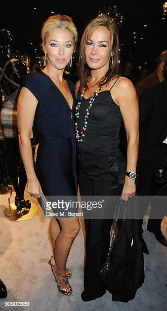 Tamara Beckwith and Tara PalmerTomkinson at the Hervé Léger by Max Azria London Store Launch Party on September 17 2009 in London England