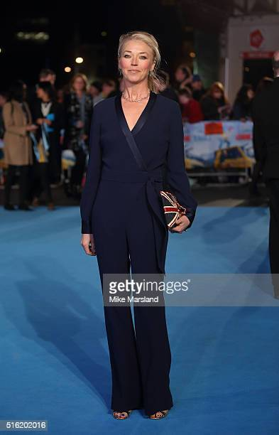 Tamara Beckwith arrives for the European premiere of 'Eddie The Eagle' at Odeon Leicester Square on March 17 2016 in London England
