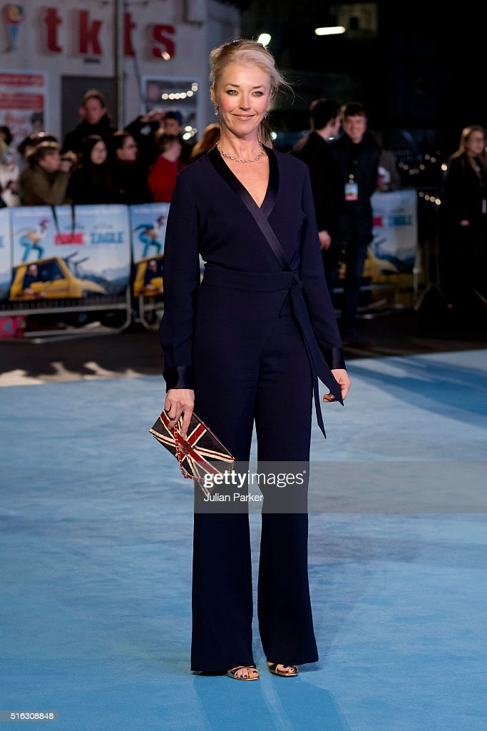 Tamara Beckwith arrives for the European premiere of 'Eddie The Eagle' at Odeon Leicester Square on March 17, 2016 in London, England.