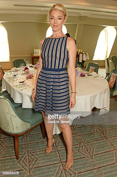 Tamara Beckwith attends a lunch hosted by Tamara Beckwith and Alessandra Vicedomini to celebrate luxury fashion brand Vicedomini at Fortnum Mason on...