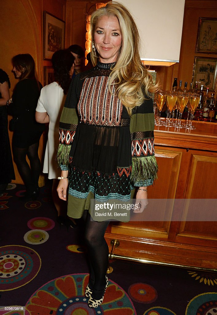 Tamara Beckwith attends a private dinner hosted by Fawaz Gruosi, founder of de Grisogono, at Annabels on April 28, 2016 in London, England.