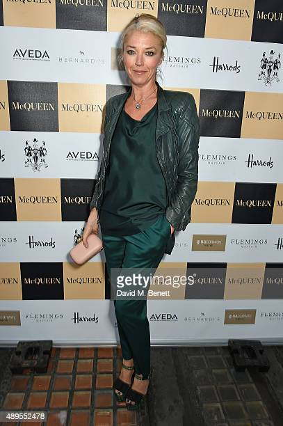 Tamara Beckwith attends the exclusive viewing of 'McQueen' hosted by Karim Al Fayed for Lonely Rock Investments during London Fashion Week at Theatre...