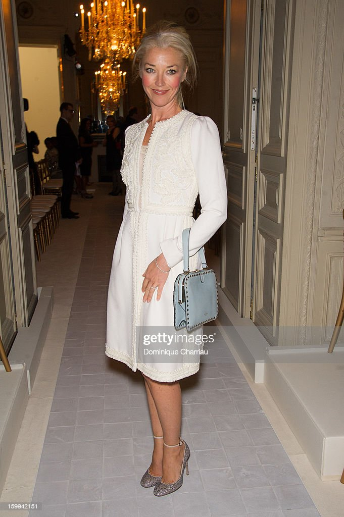 Tamara Beckwith attends the Valentino Spring/Summer 2013 Haute-Couture show as part of Paris Fashion Week at Hotel Salomon de Rothschild on January 23, 2013 in Paris, France.