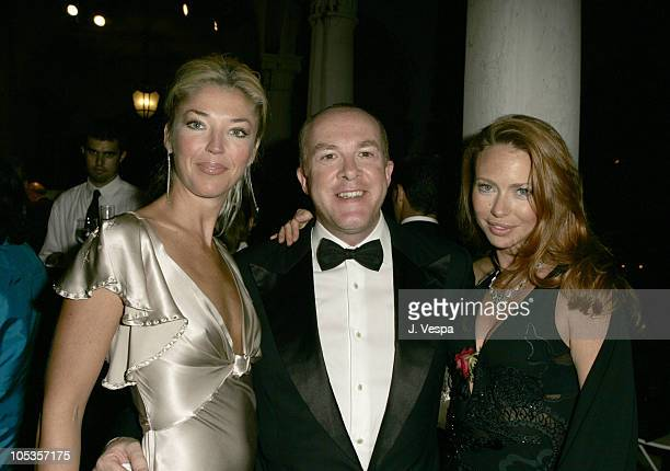 Tamara Beckwith, Cassian Elwes and Yvonne Scio at amfAR's Cinema Against AIDS Venice, presented by BVLGARI