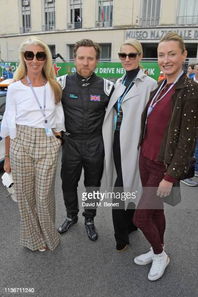 Tamara Beckwith Ewan McGregor Elaine Irwin and Lilly zu Sayn WittgensteinBerleburg attend the ABB FIA Formula E GEOX Rome EPrix 2019 on April 13 2019...