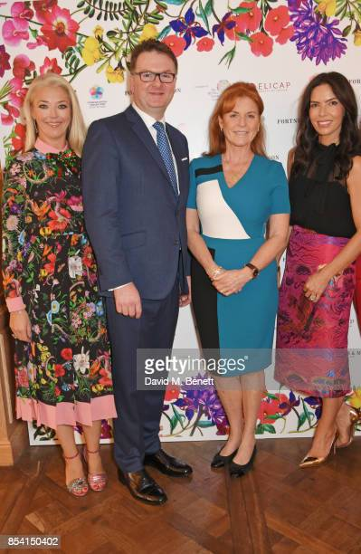 Tamara Beckwith Ewan Venters Sarah Ferguson Duchess of York and Josephine Daniel attend the 4th annual Ladies' Lunch in support of the Silent No More...