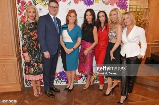Tamara Beckwith, Ewan Venters, Sarah Ferguson, Duchess of York, Josephine Daniel, Elisabeth Dana, Jenny Halpern Prince and Mika Simmons attend the...