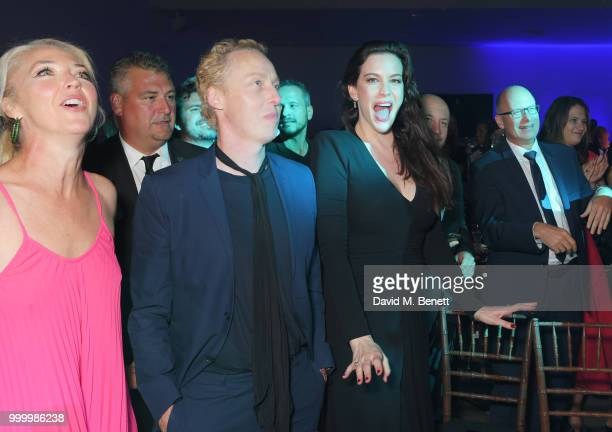 Tamara Beckwith James Brown and Liv Tyler attend the 2017/18 ABB FIA Formula E Championship Awards Dinner following the Formula E 2018 Qatar Airways...