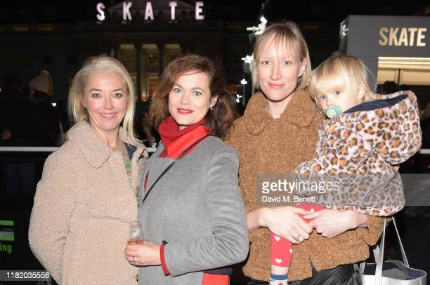 Tamara Beckwith Jasmine Guinness and Jade Parfitt attend the opening party of Skate at Somerset House on November 12 2019 in London England...