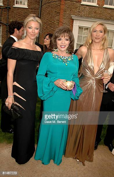Tamara Beckwith Joan Collins and Tania Bryer arrive at the Raisa Gorbachev Foundation Party at the Stud House Hampton Court Palace on June 7 2008 in...