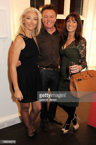 Tamara Beckwith Paul Young and Stacey Young attend a private view of 'Bruno Bisang 30 Years Of Polaroids' at The Little Black Gallery on January 15...