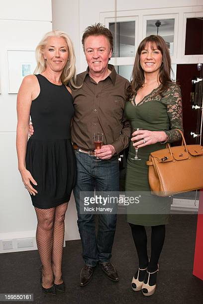 Tamara Beckwith Paul Young and Stacey Young attend the private view of Bruno Bisang 30 Years of Polaroids at The Little Black Gallery on January 15...