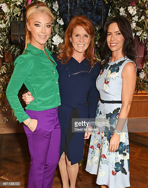 Tamara Beckwith Sarah Ferguson Duchess of York and Josephine Daniel attend the annual ladies' lunch in support of the Silent No More Gynaecological...
