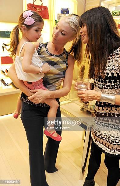 Tamara Beckwith with daughter Vivi and Lisa Barbuscia aka Lisa B attend a children's afternoon tea party hosted by Roger Vivier to launch their new...