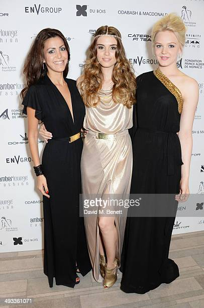 Tamara Boullier Paola Ruiz and Emilia Pikkarainen attend the Amber Lounge 2014 Gala at Le Meridien Beach Plaza Hotel on May 23 2014 in Monaco Monaco
