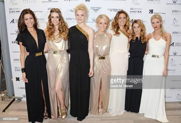 Tamara Boullier Paola Ruiz Emilia Pikkarainen Jennifer Becks Maria Del la Rosa Camille Marchetti and Chloe Roberts attend the Amber Lounge 2014 Gala...