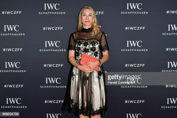 Tamara Cantieni attends the IWC 'For the Love of Cinema' Gala Dinner at AURA Zurich on 30 September 2017 in Zurich Switzerland During the event actor...