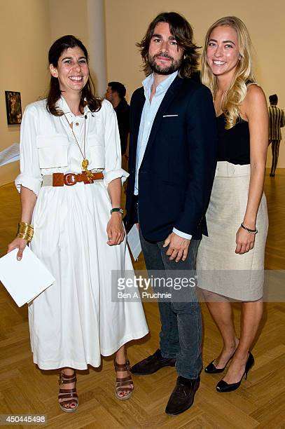 Tamara Corm Guest and Alina Kohlem attends as Pace London presents Adrian Ghenie at Pace London on June 11 2014 in London England