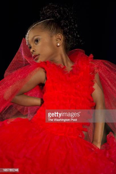Tamara Dade 4 strikes a pose at the end of the runway at the 3rd Annual Glynn Jackson's Show Biz Kidz at The Silver Spring Civic Building in Silver...