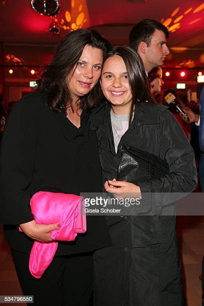 Tamara Dietl widow of Helmut Dietl and her daughter Serafina Dietl during the Lola German Film Award 2016 after show party at Palais am Funkturm on...