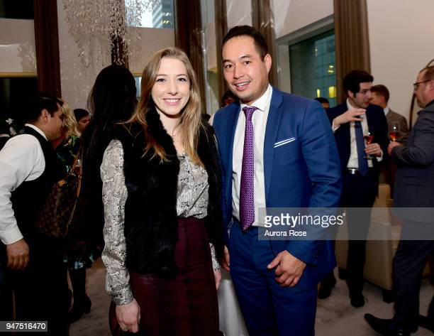 Tamara Eaton and David Freylikhman attend Launch Of New Entity Withers Global Advisors at 432 Park Avenue on April 3 2018 in New York City Tamara...