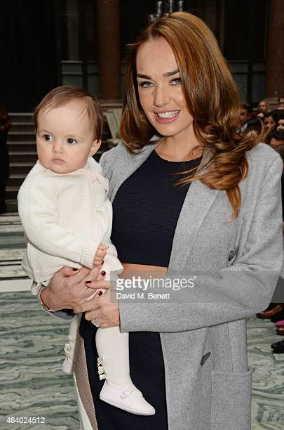 Tamara Ecclestone and baby Sophia attend the Julien Macdonald show during London Fashion Week Fall/Winter 2015/16 at British Foreign and Commonwealth...
