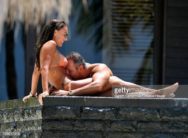 Tamara Ecclestone and boyfriend Omar Kyhami sighted on vacation on February 13 2011 in the Maldives