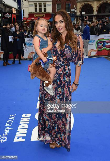 Tamara Ecclestone and daughter Sophia arrive for the UK Premiere of 'Finding Dory' at Odeon Leicester Square on July 10 2016 in London England