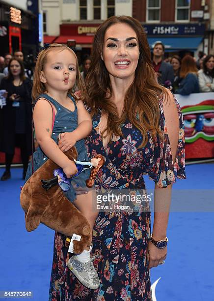 Tamara Ecclestone and daughter Sophia arrive for the UK Premiere of Finding Dory at Odeon Leicester Square on July 10 2016 in London England