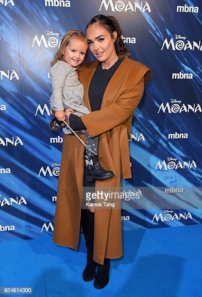 Tamara Ecclestone and daughter Sophia attend the UK Gala screening of MOANA at BAFTA on November 20 2016 in London England